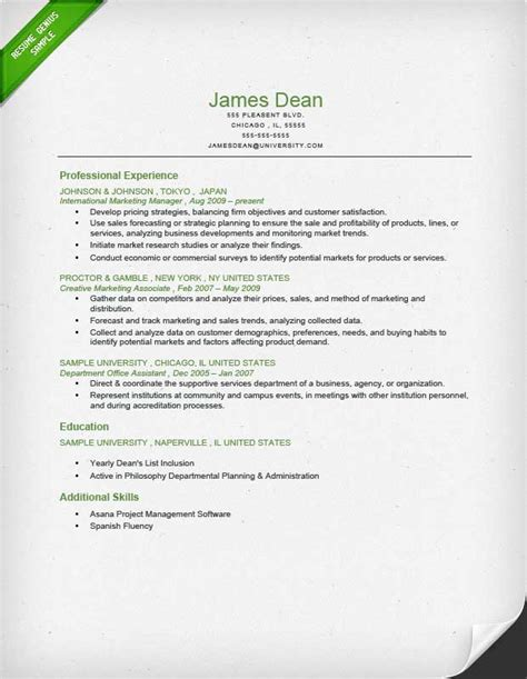 resume formats rev chronological functional combo