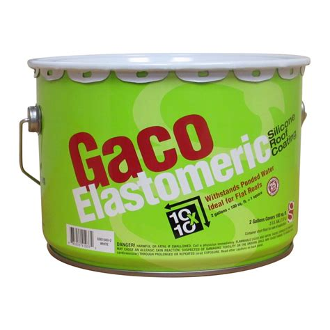 shop gaco 2 gallon elastomeric reflective roof coating 25