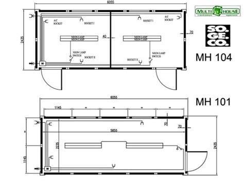 container 20 piedi misure interne vendita e noleggio container abitativi nuovi e usati sogeco
