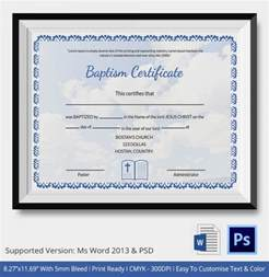 baptism certificate template word 20 sle baptism certificate templates free sle