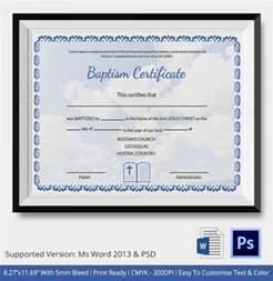 baptism certificate template free 20 sle baptism certificate templates free sle