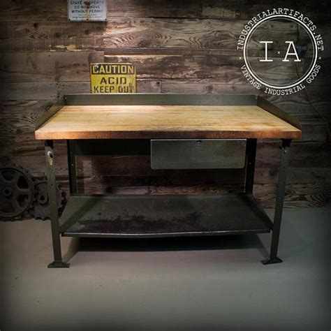 Kitchen Island Table Frame Vintage Industrial Steel Frame Work Bench Table W