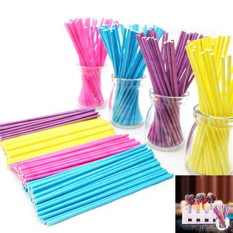 Orderan Cake Pop 100 Pcs 100pcs colorful lollipop stick 100mm papen cake pop sticks for lollypop lollipop chocolate