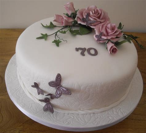 you to see 70th birthday cake roses and butterflies