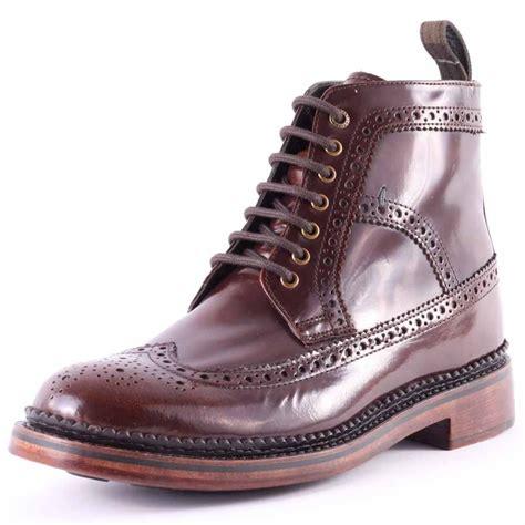 cognac mens boots barbour billingham mfo0290 ta31 mens boots in cognac