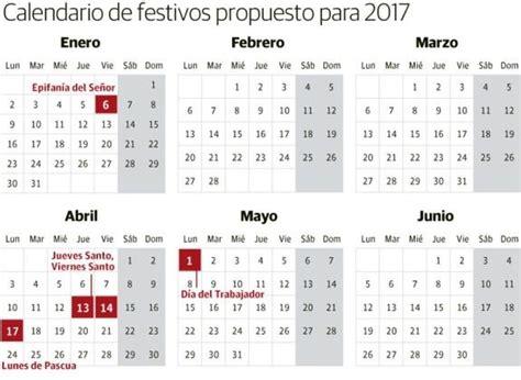 Calendario Con Puentes 2017 Calendario Laboral 2017 Aluvi 243 N De Puentes Diariovasco