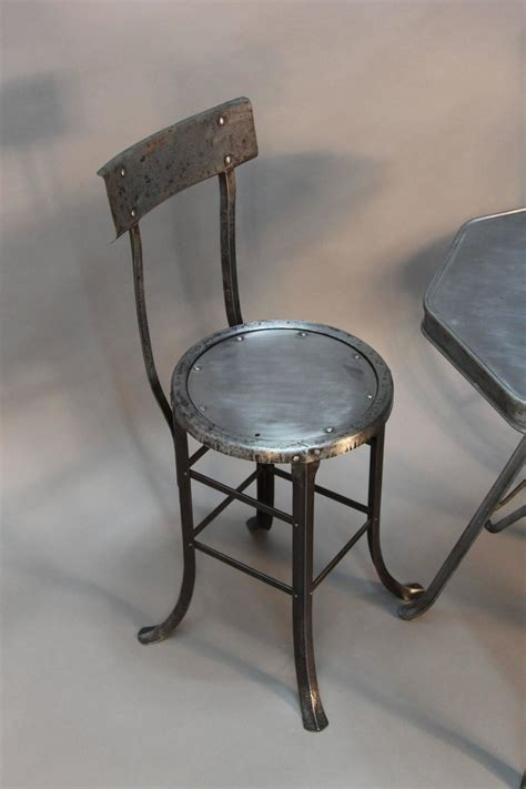 Industrial Bistro Table by Industrial Bistro Table And Chair Set At 1stdibs