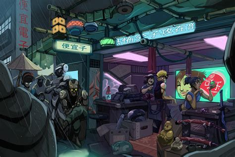 cyberpunk home decor cyber shop by sc4v3ng3r on deviantart