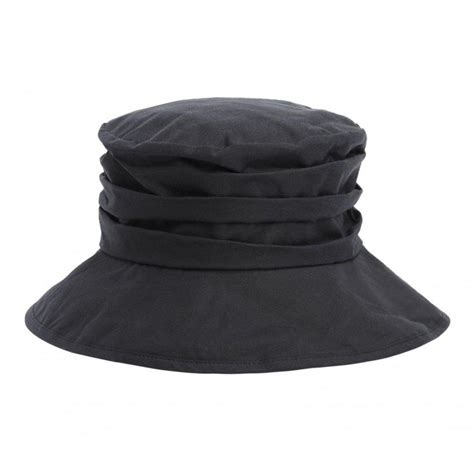 Barbour Wax Hat In Black lyst barbour wax sports hat in black