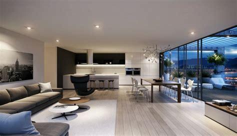 Formidable Salon Avec Cuisine Ouverte #2: cuisine-ouverte-sur-salon-moderne.jpeg