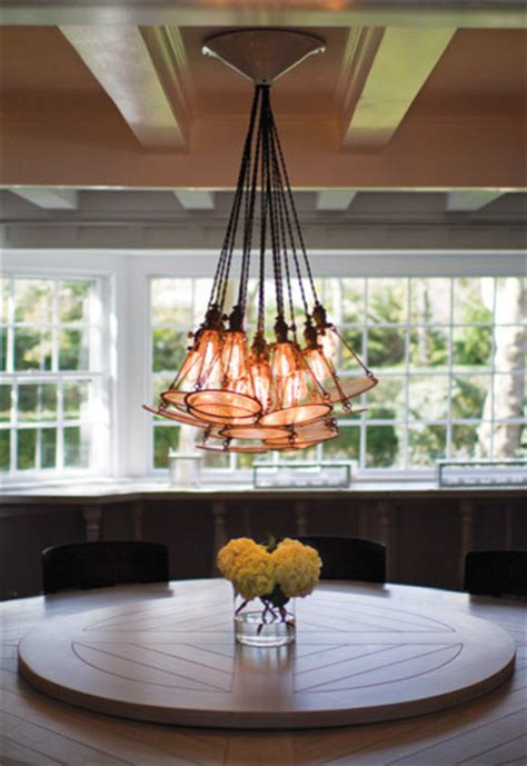 Dining Room Edison Lights Edison Bulb Chandelier Kitchen Transitional With 48 Wolf