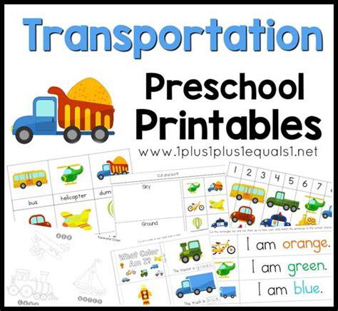 kindergarten themes transportation transportation preschool printables f a little bit of