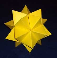 Image Gallery Stellated Icosahedron - papercut software for paper model construction