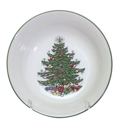christmas tree bowling pattern traditional cereal bowl 6 1 4 quot set of 4 pwc06n