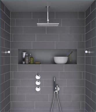 Bathroom Tile Nooks Bathroom Design Slate Grey Gray Overhead Shower Shower