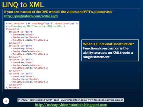 tutorial linq to xml sql server net and c video tutorial part 1 linq to xml