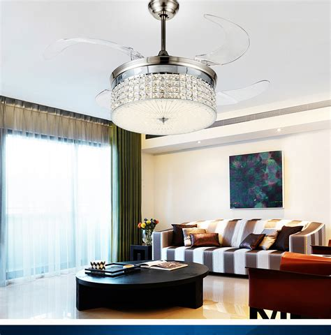 dining room ceiling fans with lights led light ceiling chandelier fan variable expansion simple