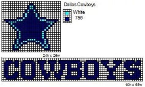 pattern for logo crochet fanatic nfl logos and name plates