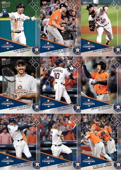houston s team houston s title 2017 world chion astros books 2017 topps now houston astros world series checklist