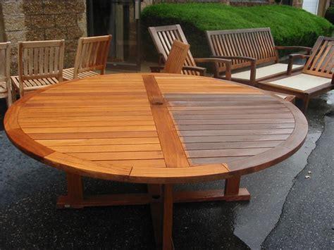 Elegant outdoor teak table refinish teak furniture outdoor furniture repair teak restoration