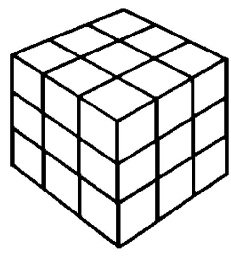 Cubes White cube clipart black and white pencil and in color cube