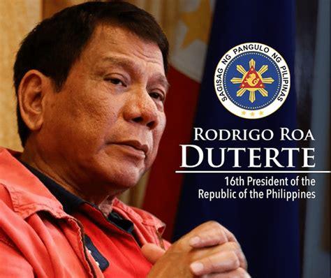philippine president rodrigo duterte full text transcript president rodrigo duterte