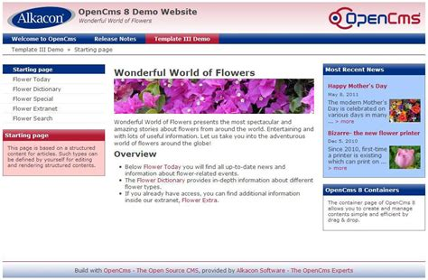 Creating Opencms Container Templates Opencms Wiki Webpage Template Html