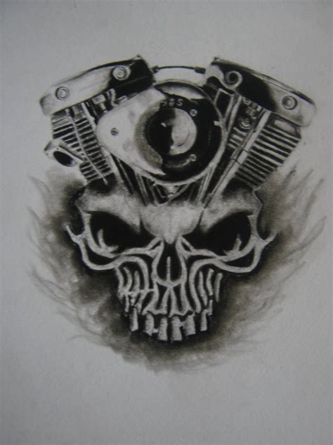 Selimut Motor Harley Davidson Skull daytona bike week skull x shovelhead engine by