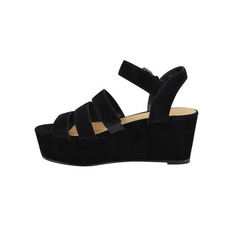 strappy wedge sandals black strappy flatform style wedge sandals from