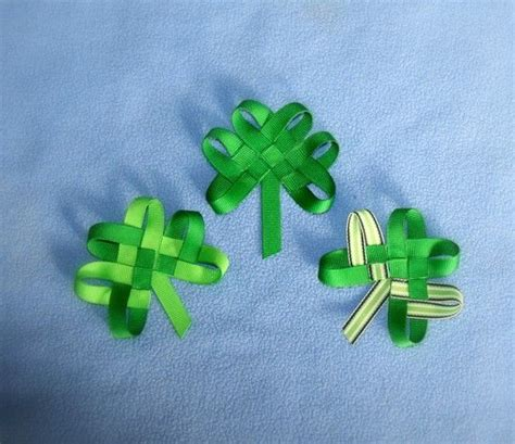 ribbon shamrock instructions 358 best beautiful ribbon creations images on pinterest