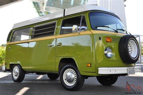 green volkswagen van 1978 vw volkswagen westfalia cer van restored sage