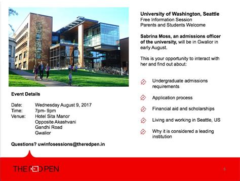 Uw Mba Information Session by Of Washington Info Session Gwalior The Pen