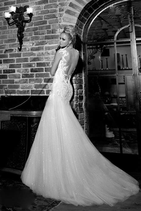 Galia Lahav Giselle Bridal Neckline Natural Trumpet/Mermaid Floor Length Chiffon Tulle Backless