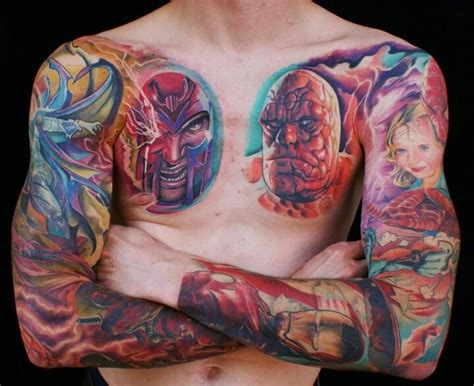 marvel tattoo sleeve marvel tattoos designs ideas and meaning tattoos for you
