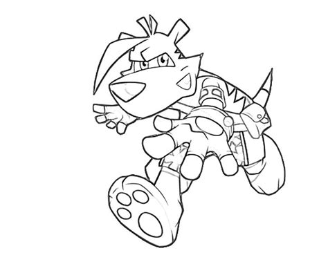tasmanian tiger coloring page ty the tasmanian tiger attack avondale style