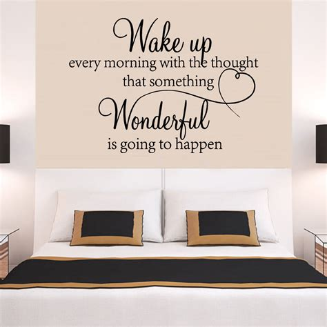 heart family wonderful bedroom quote wall stickers art