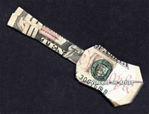 Origami Guitar Dollar Bill - money folding on money origami dollar bill