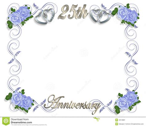 Free Printable Wedding Anniversary Card Templates by 25th Wedding Anniversary Invitation Template
