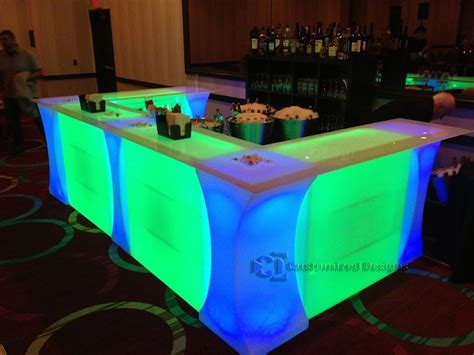 Lighted Table by Curve Led Lighted High Boy Cocktail Table