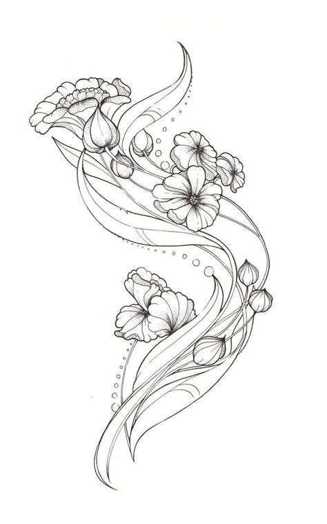 tattoo nouveau best 25 nouveau flowers ideas on