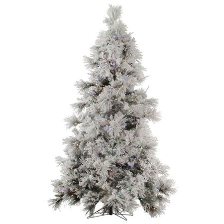 menards colorado flocked pine vickerman co flocked pocono 7 5 white pine artificial tree with 650 led multi