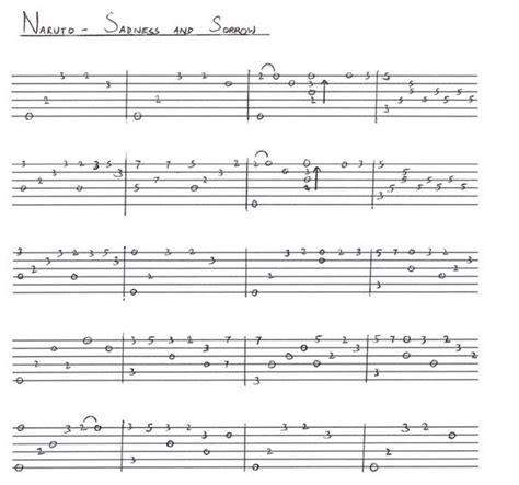 tutorial gitar naruto shabir khan on twitter quot naruto sadness and sorrow
