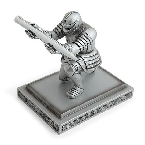 executive knight pen holder super cool executive knight pen holder model action figure
