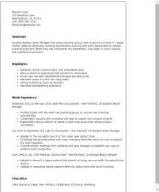 Brand Marketing Manager Sle Resume by Professional Assistant Brand Manager Templates To Showcase