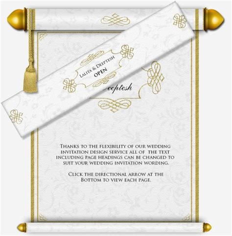 wedding scroll template muslim scroll email wedding invitation