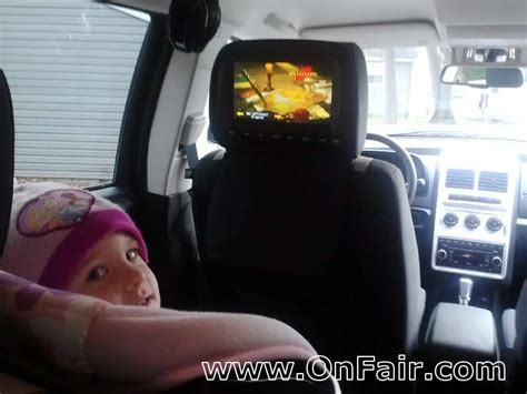 dodge journey headrest headrest dvd player install in 2009 dodge journey