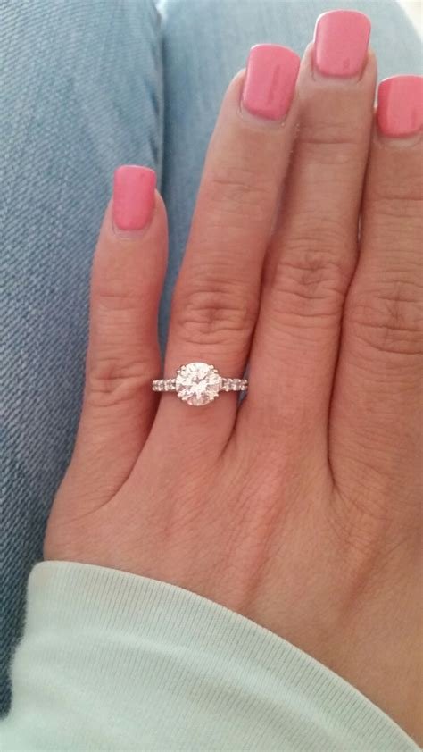 Idw081 Pink Size 15 5 post photos of your 1 5 2 carat engagement