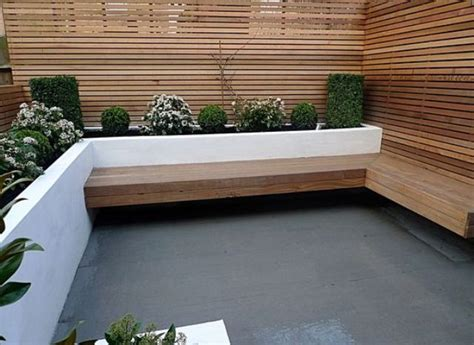 modern planter bench 27 comfy l shaped benches for outdoors digsdigs