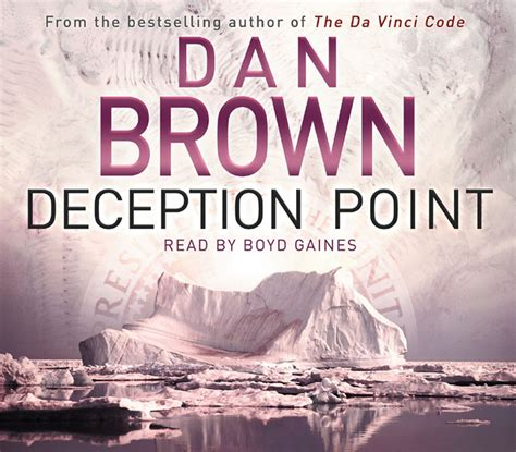 the deception books deception point audio audiobook on cd by dan brown boyd