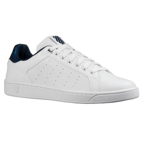 Size 42 Cooper Original White Sepatu Casual Sneakers Pria k swiss clean court cmf low leather trainers casual fashion tennis shoes white ebay